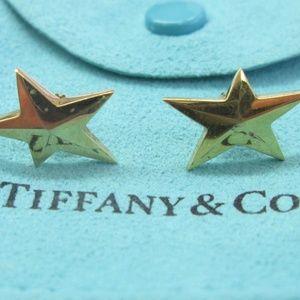 Tiffany & Co 18Kt Tiffany Stars Yellow Gold Earrin